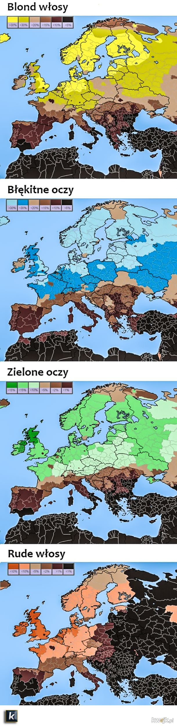 Interesujące dane o Europejczykach...