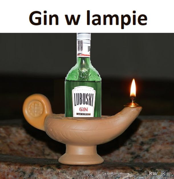 Gin w lampie