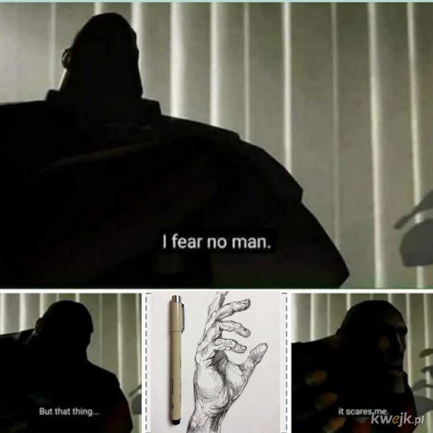 Kiedy uczysz się rysować ludzi i chcesz narysować dłonie