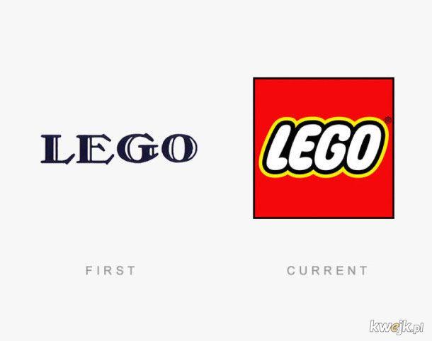 Pierwsze i obecne loga wielkich firm