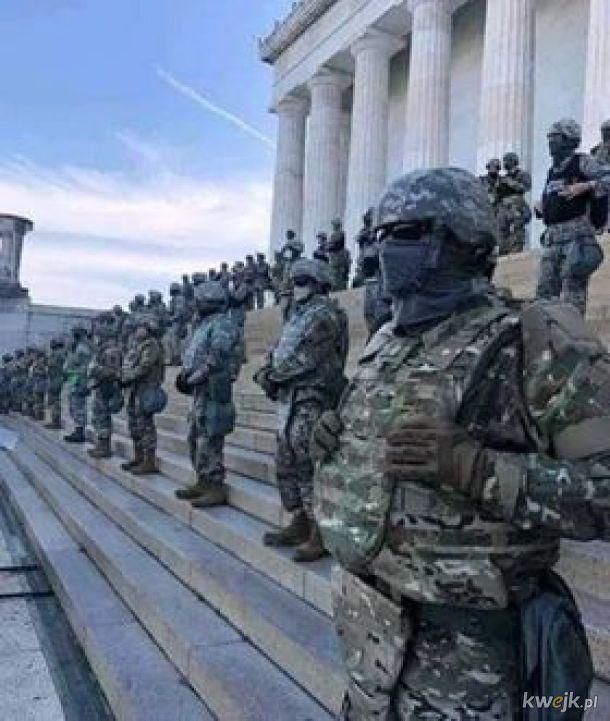 Rzadki Widok Armia USA w USA