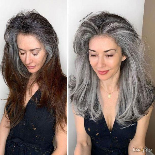 Siwe włosy można farbować... ale po co?