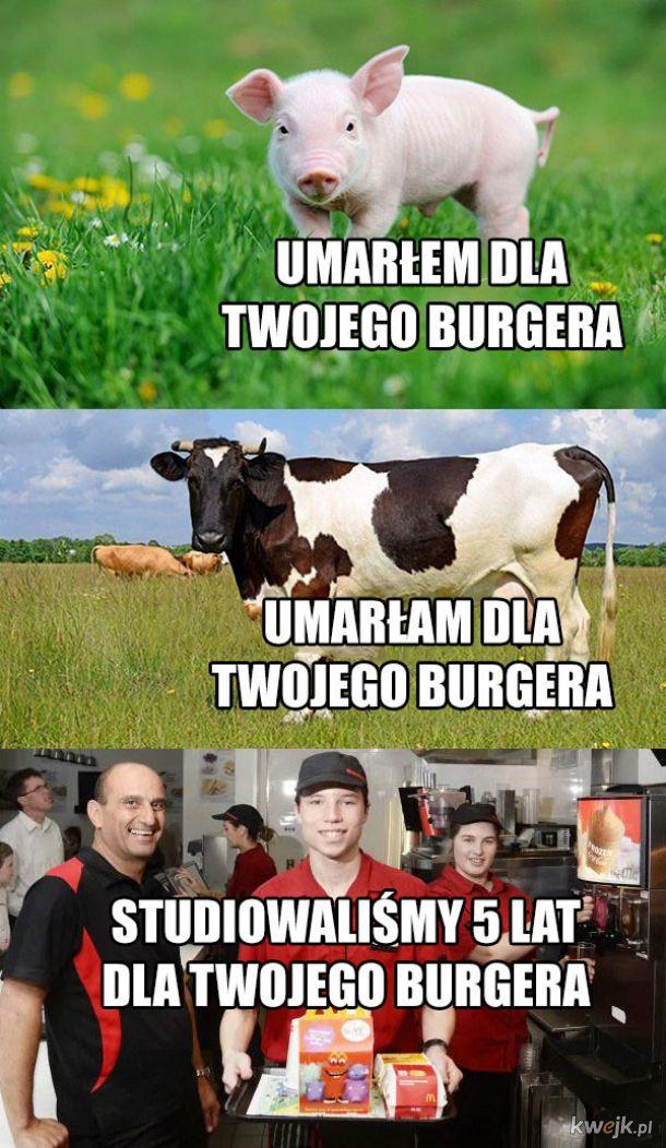 Poświęcenie dla burgera