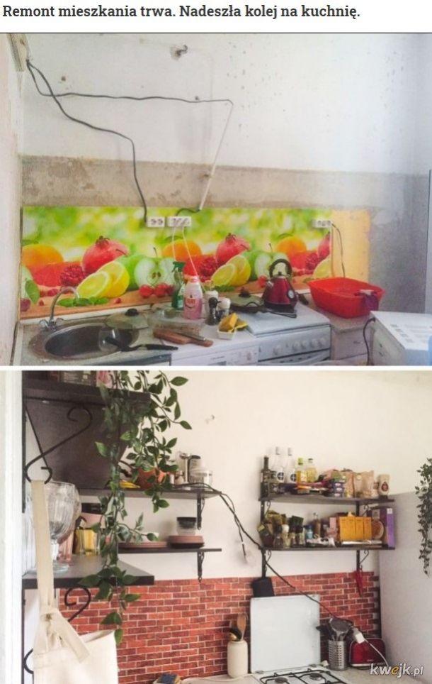 Tak się remontuje mieszkania, a nie że tylko ściany odmalować