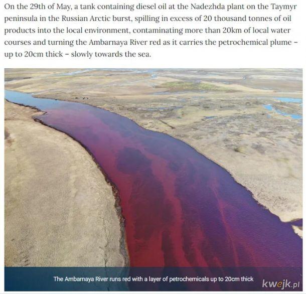 A tym czasem Rosja po cichutku spuszcza rope do rzek w Artyce
