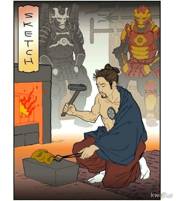 Gdyby przenieść świat Marvela do starożytnej Japonii... czy rozpoznasz bohaterów?
