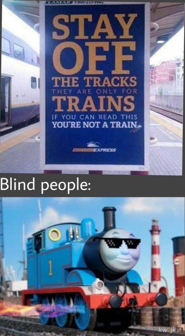 chyba jestem teraz pociągiem