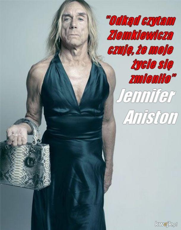 Jennifer Aniston czyta Ziemkiewicza