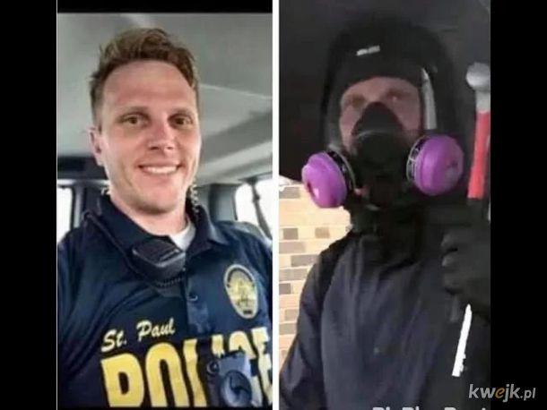Jeden z policyjnych prowokatorow wszczynajacych zamieszki w USA
