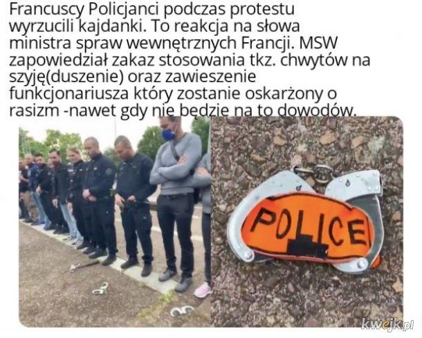Protest policjantów we Francji
