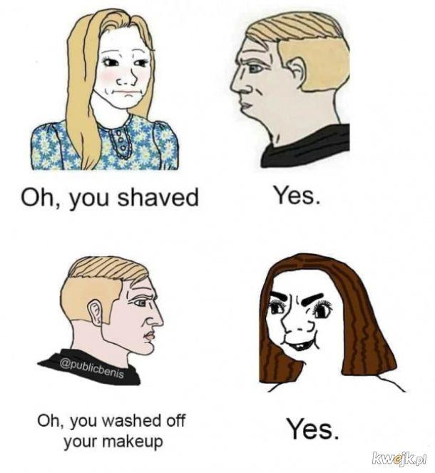 Golenie vs makijaż