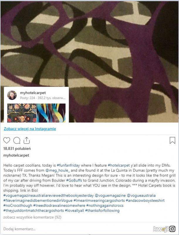 Najnudniejszy Instagram na świecie zebrał 400 tys subów: typek fotografuje dywany w hotelach, obrazek 7