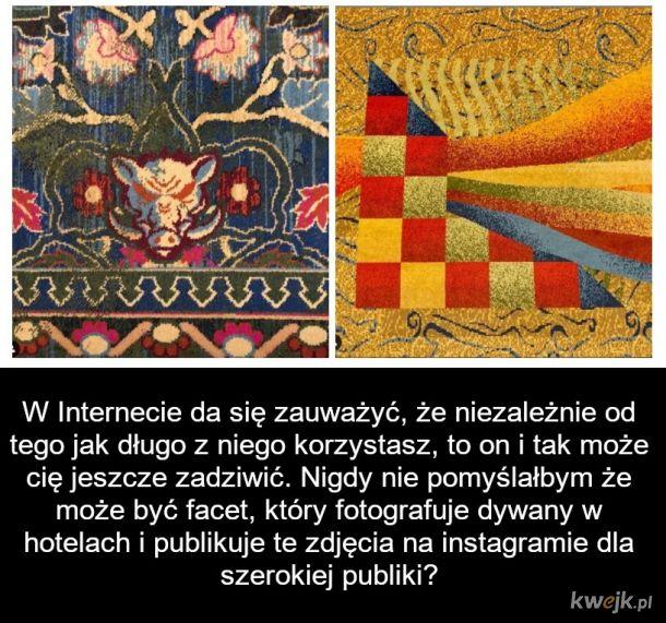 Najnudniejszy Instagram na świecie zebrał 400 tys subów: typek fotografuje dywany w hotelach