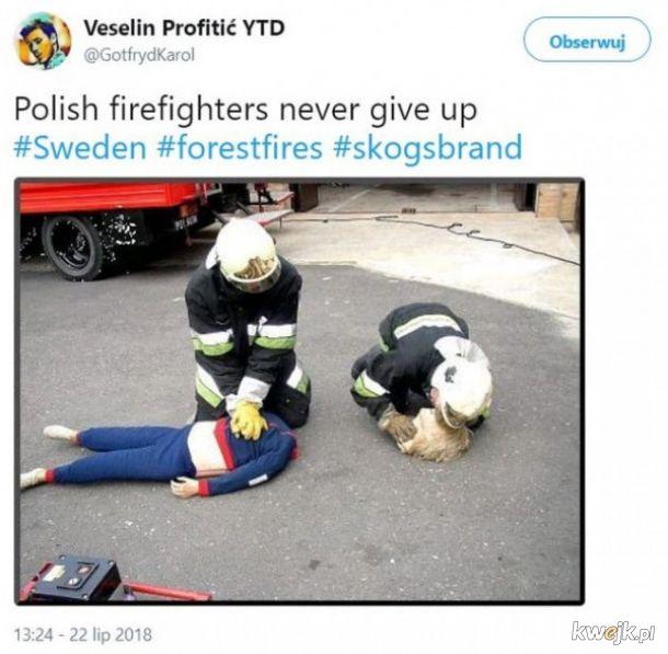 Polscy strażacy