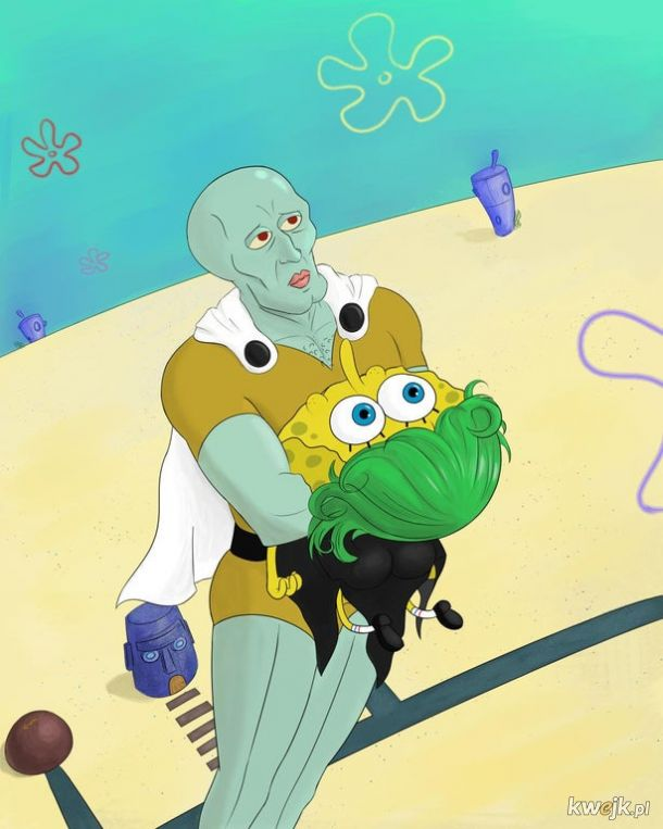 Skalmar i spongebob