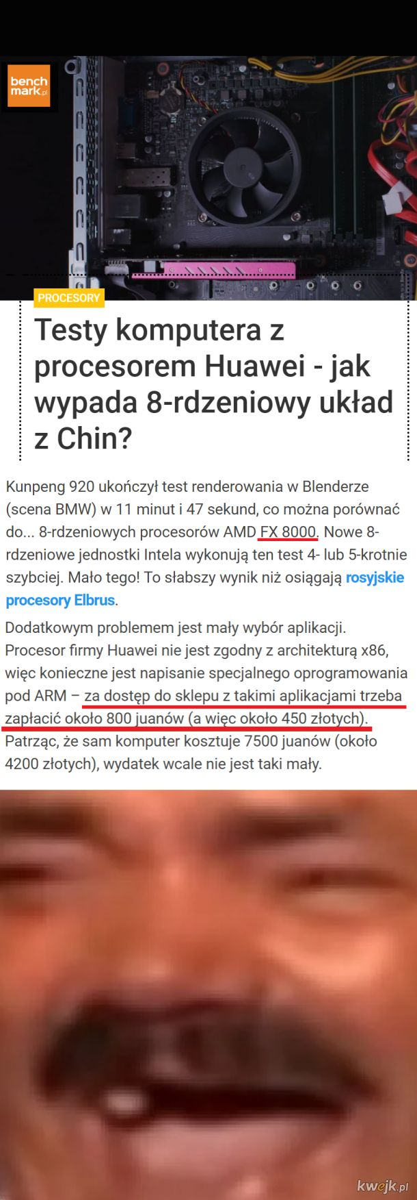 2010 dzwonił i pytał o swój procesor