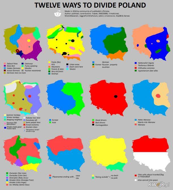 12 sposobów na podział Polski