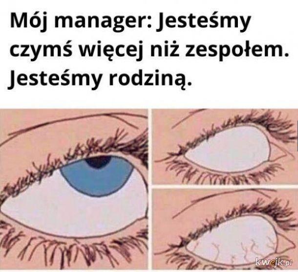 Manager i te jego gadki
