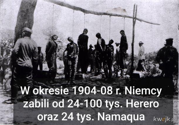 """Zaglada ludu Herero. Pierwsze ludobojstwo w XX w. """"Nie oszczędzajcie żadnego mężczyzny, żadnej kobiety, żadnego dziecka, zabijcie ich wszystkich""""- cesarz Niemiec Wilhelm II"""