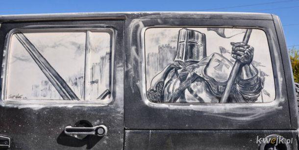 Sztuka na bardzo brudnych autach