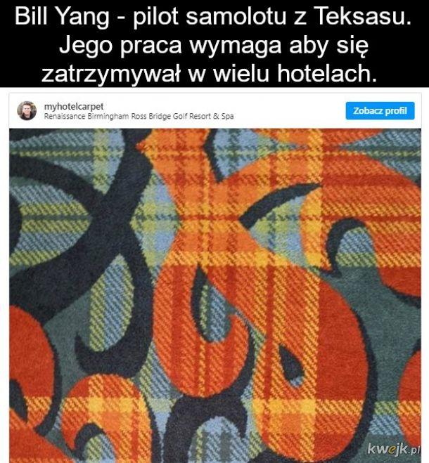 Najnudniejszy Instagram na świecie zebrał 400 tys subów: typek fotografuje dywany w hotelach, obrazek 2