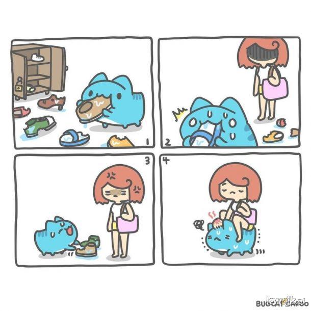 Psotny niebieski kotek