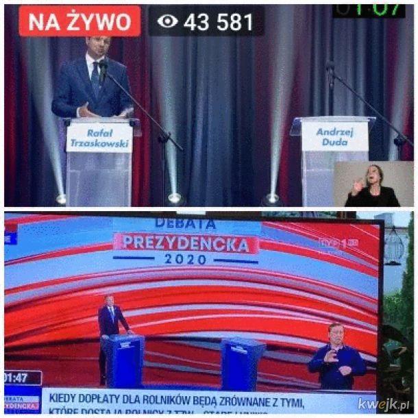 Dwie telewizje i dwóch kandydatów, ale zero starcia