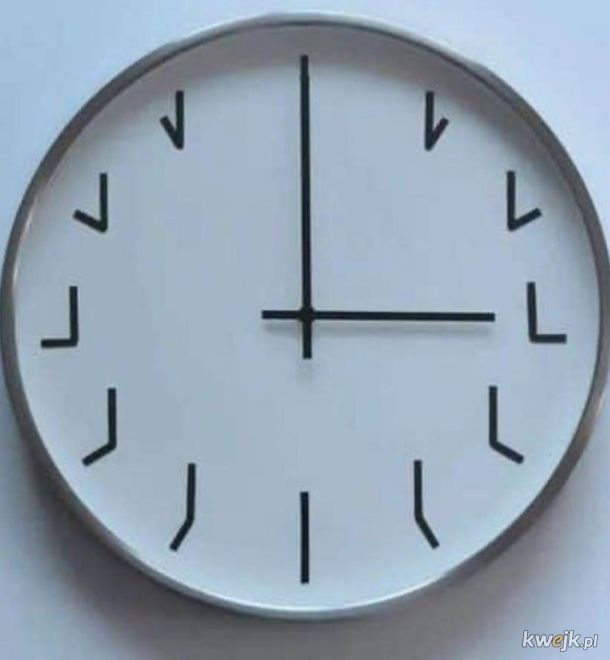 Ciekawy zegar