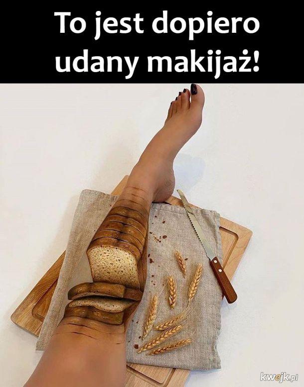 Makijaż nogi