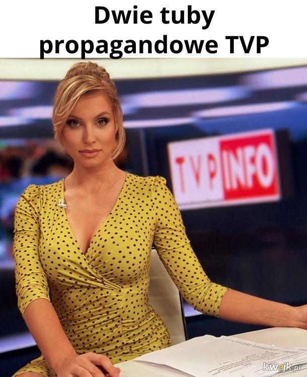 Na początku nie chciałem robić seksistowskiego dowcipu, bo może Pani jest przygotowana merytorycznie, ale potem zobaczyłem logo TVP