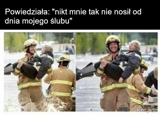 Strażak i babcia