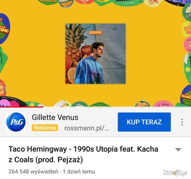 Niezwykle trafny dobór reklamy do tekstu piosenki