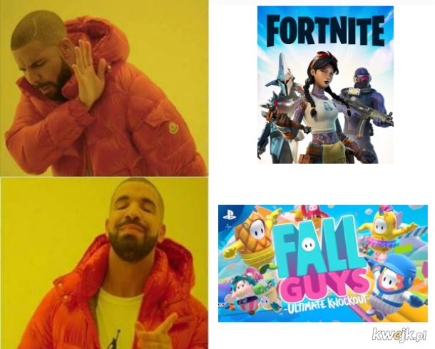 Fortnite vs fall guys