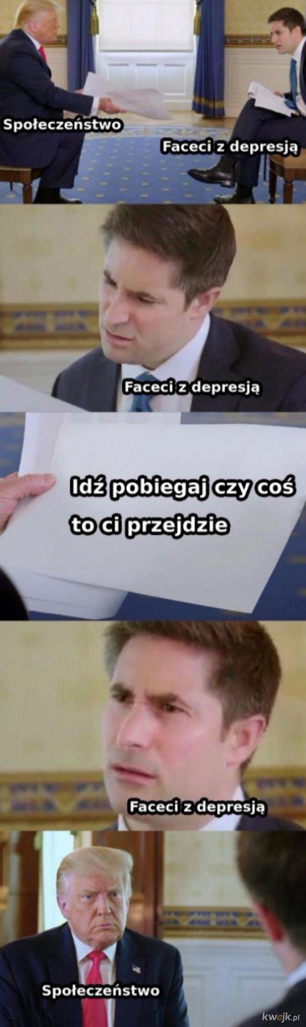 Facet z depresją