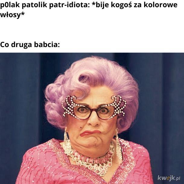 Babcie z fioletowymi włosami czują się zagrożone