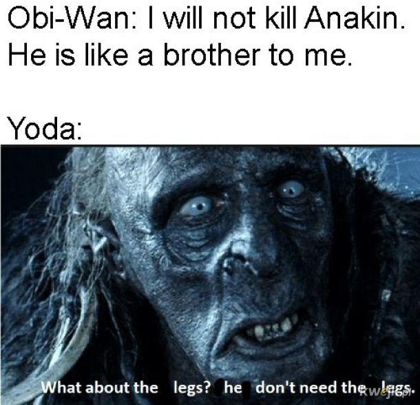 on nie potrzebuje nóg