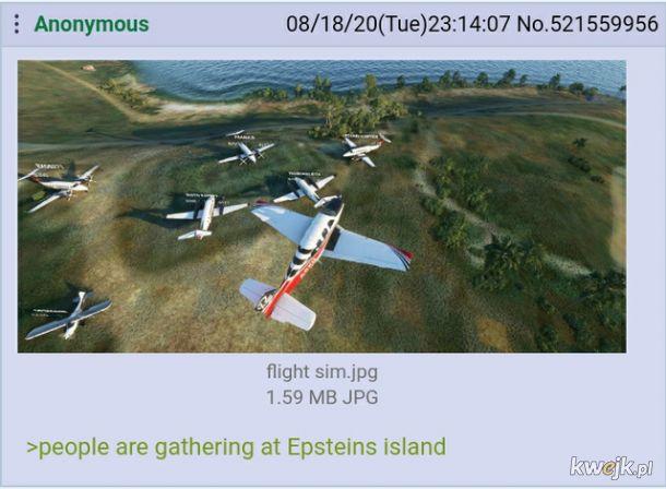Zebranie na wyspie Epsteina w Microsoft Flight Simulator