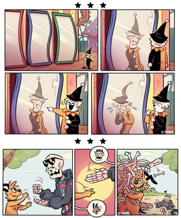 Kościano lalkowe edgy komiksy