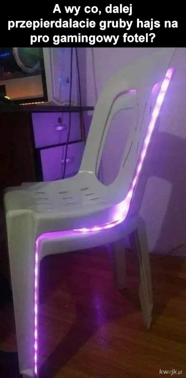 Pro gamingowy fotel