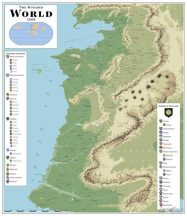 Mapa świata wiedźmina 1263