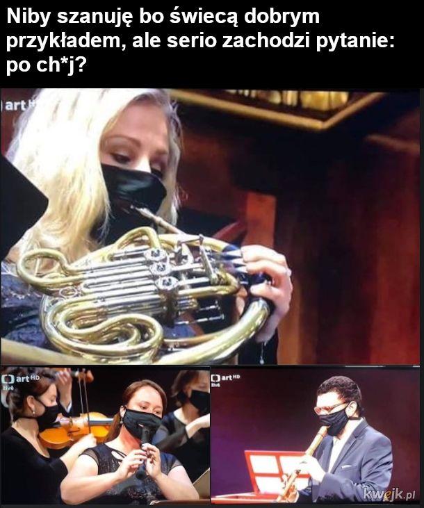 Dąć w trąbę w orkiestrze