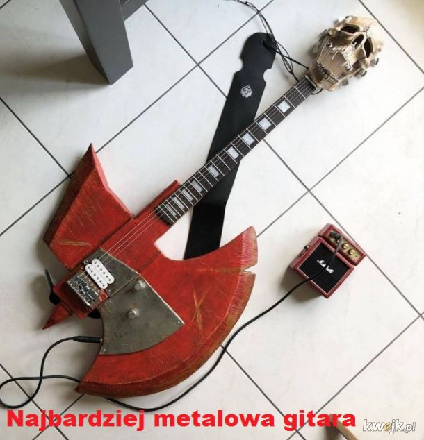 Nie ma bardziej metalowej gitary