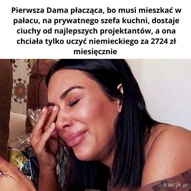 Łzy Pierwszej Damy