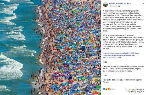 Tak wyglądała w ten weekend plaża we Władysławowie. To nie żart...