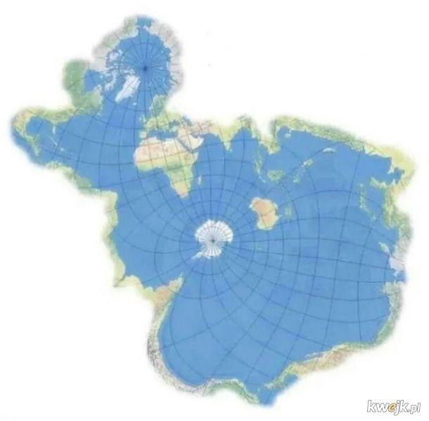 Mapa świata z perspektywy ryby