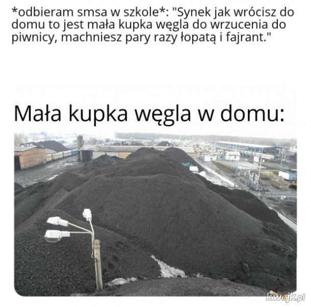 Mała kupka węgla