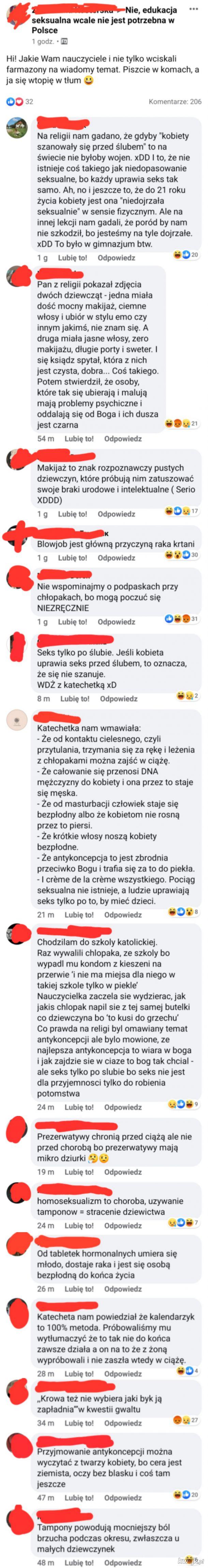 Nie, edukacja seksualna wcale nie jest potrzebna w Polsce