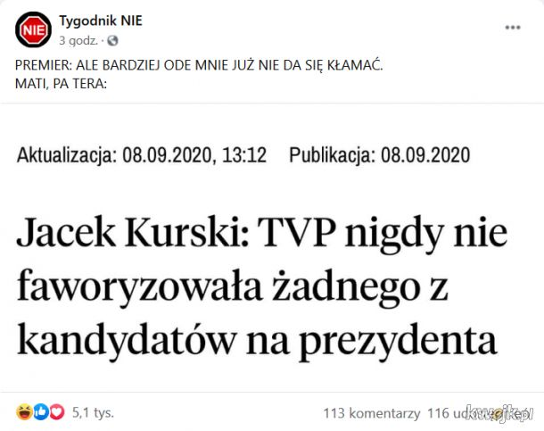 Aż się samo prosi żeby przypomnieć spot, który stacja TVP sama dla Dudy wyprodukowała..