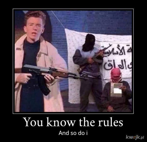 Ty znasz zasady, więc ja też je znam