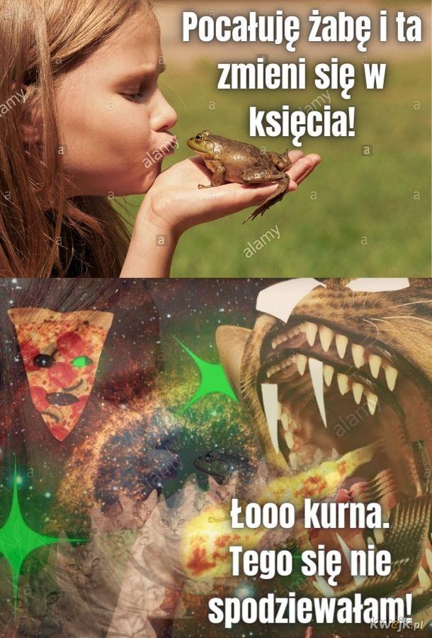 Nie wolno lizać żaby!